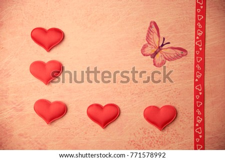 cards Valentines with hearts #771578992