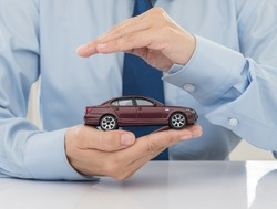 care and protection of car. car insurance concept.