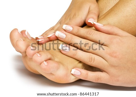 care for sensuality woman nails