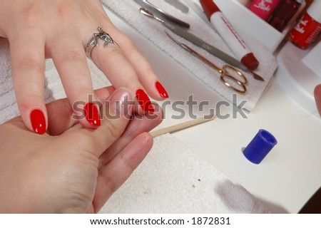 Care of nails and manicure