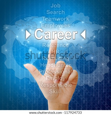 Career,Business concept in word for Human resources