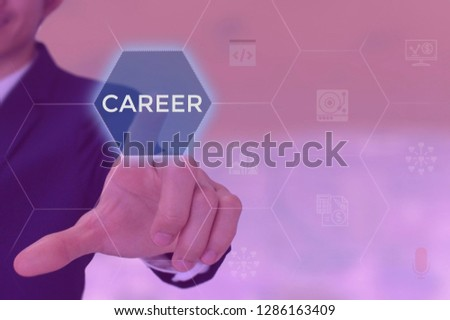 CAREER concept presented by businessman #1286163409