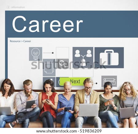 Career Occupations Recruitment Job Search Concept #519836209