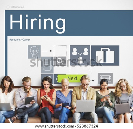 Career Occupations Recruitment Job Search Concept #523867324