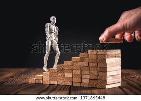 Career Planning Concept. Businessman Getting Help Achieving Goals. #1371865448