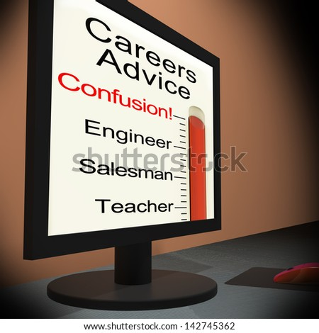 Careers Advice On Monitor Showing Guidance And Counseling