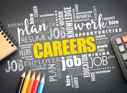 CAREERS word cloud collage, business concept background