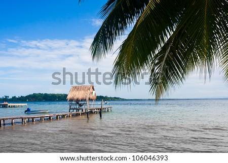 Careneros Island Bocas Del Toro Panama - stock photo