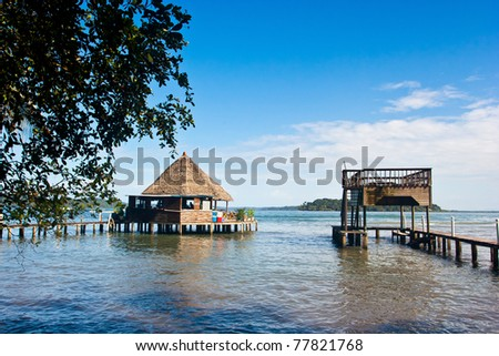 Careneros Island Bocas Del Toro Panama - stock photo