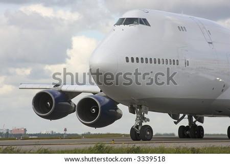 Cargo airplane close up