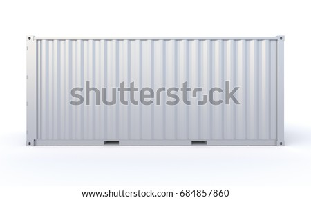 Cargo Container 3d-rendering neutral color