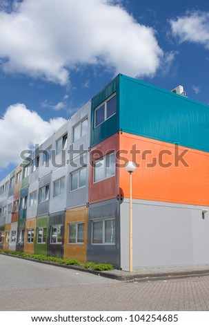 Cargo Container houses - stock photo