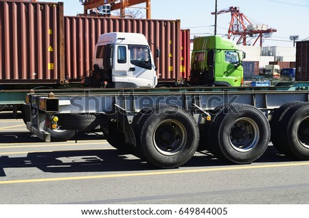Cargo container , semi trailer chassis  #649844005