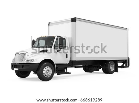 Cargo Delivery Truck Isolated. 3D rendering