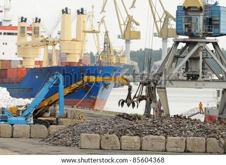 Cargo handling works in port
