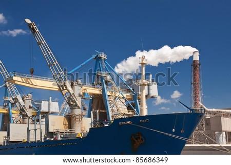 Cargo harbor in Poland - Gdansk - Danzig.