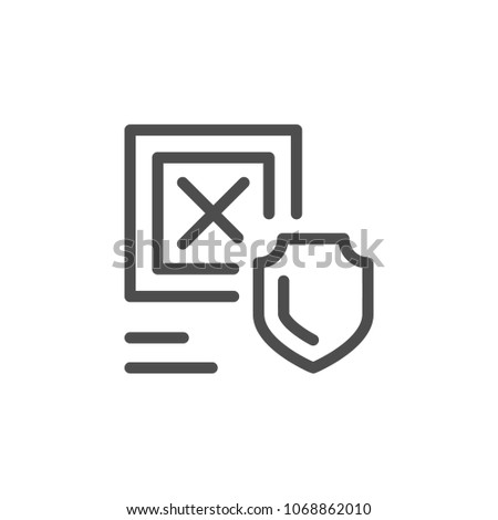 Cargo insurance line icon isolated on white