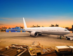 cargo plane loading for logistic and transport business