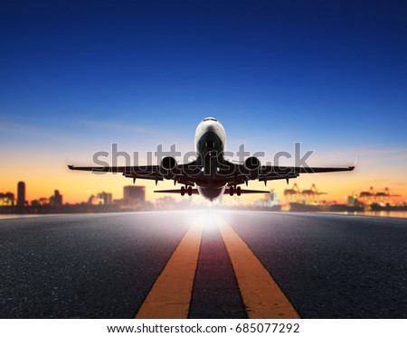 cargo plane take off from...