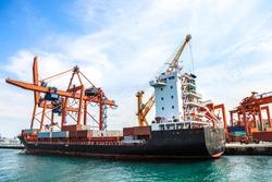 cargo ship, big ship, transportation ship