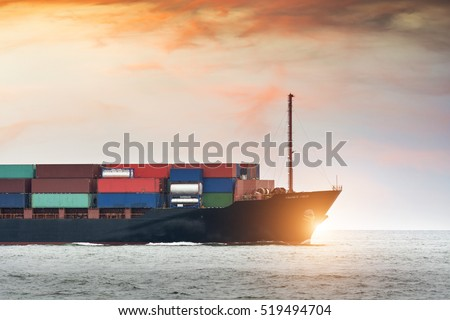Cargo ship industry Logistics and transportation of Container