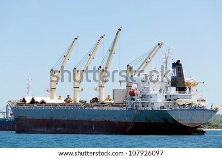 cargo ship with crane