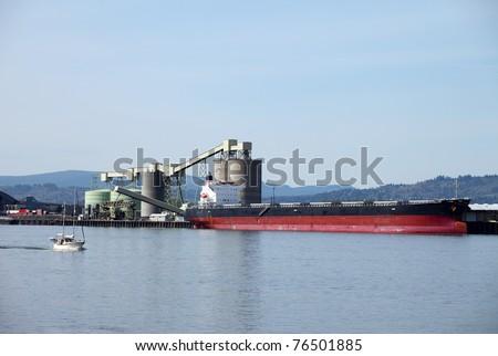 Cargo ships maritime transportation.