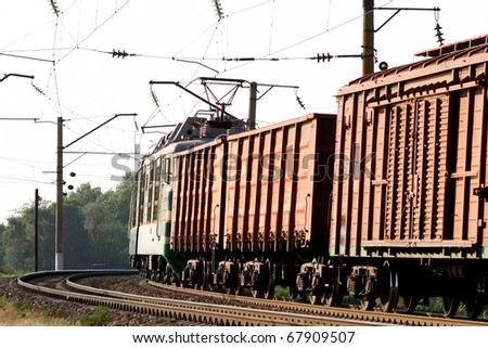cargo train loaded with coal