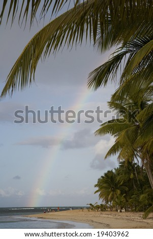 Caribbean. Dominican Republic. Samana Peninsula. Las Terrenas. - stock photo