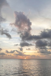 Caribbean, Grenada, Mayreau Island. Caribbean sunset.