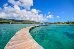 Caribbean Martinique pontoon on marin bay