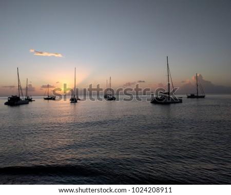 Caribbean Ocean from Boat