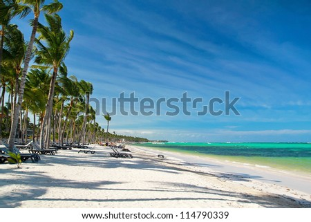 Caribbean sea beach, Dominican Republic