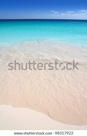 Caribbean sea turquoise white sand beach