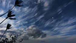 Caribbean sky before hurricane arrival