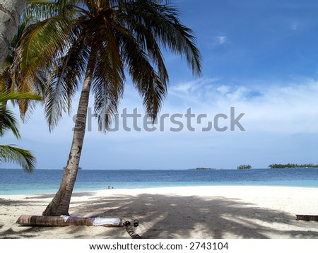 caribbean tropical white sand beach in panama