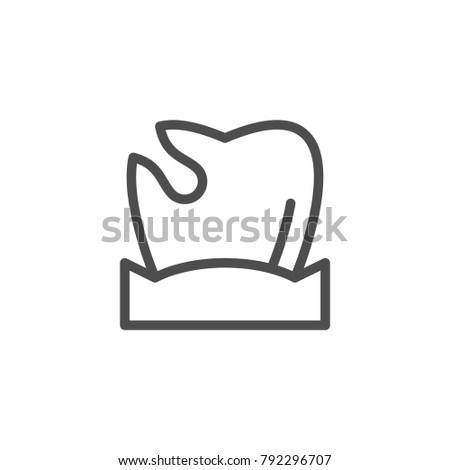 Caries line icon isolated on white. Vector illustration