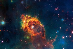 Carina Nebula in outer space. Elements of this Image Furnished by NASA