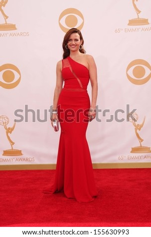 Carla Gugino at the 65th Annual Primetime Emmy Awards Arrivals, Nokia Theater, Los Angeles, CA 09-22-13
