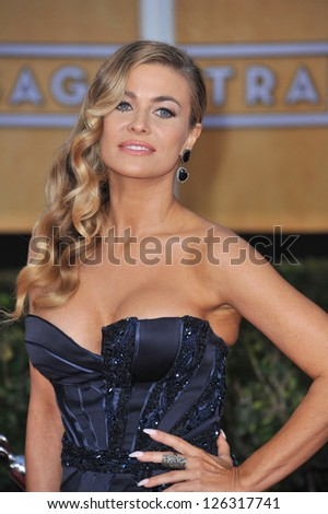 Carmen Electra at the 19th Annual Screen Actors Guild Awards at the Shrine Auditorium, Los Angeles. January 27, 2013  Los Angeles, CA Picture: Paul Smith