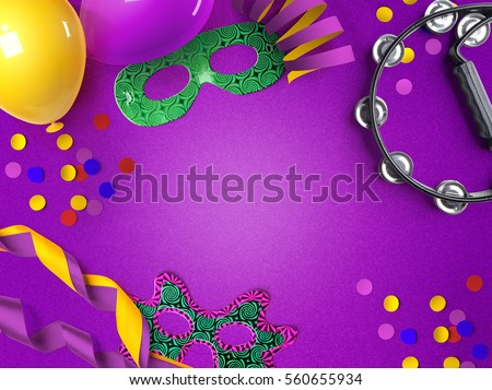 Carnaval background with space for text #560655934
