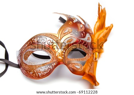 Carnaval red venetian mask