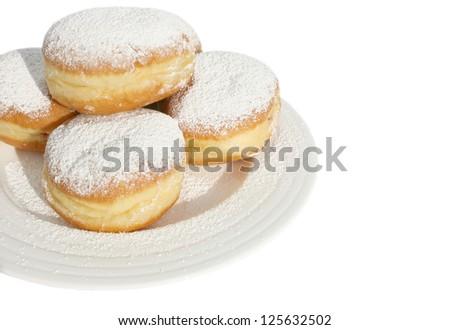 Carnival bismarck doughnuts - stock photo