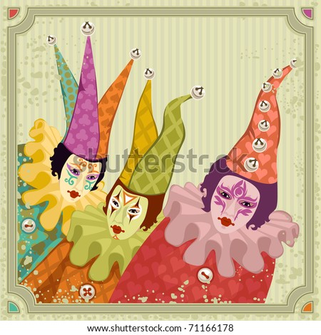 carnival clowns - for vector version see image no. 70514200