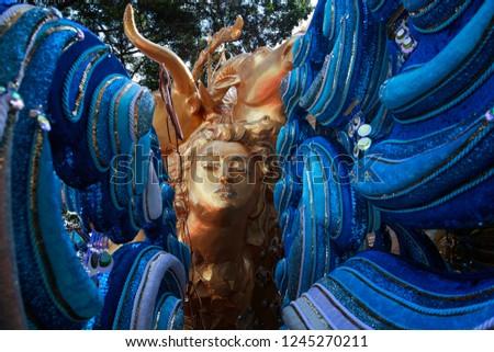 carnival costumes closeup