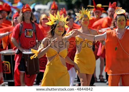 Carnival Dancers - stock photo