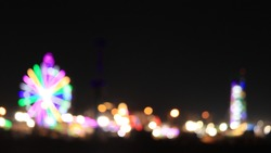 Carnival ferris wheel light bokeh