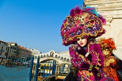 carnival in the unique city of venice in italy. venetian masks