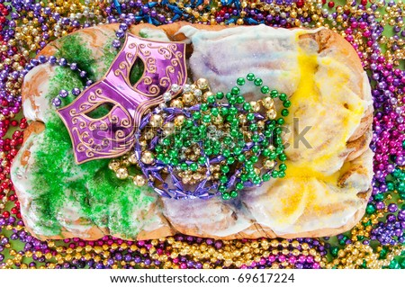 King Cake Clip Art : Carnival King Cake With Mask Stock Photo 69617224 ...