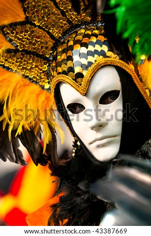 Carnival mask in Venice, Italy. - stock photo